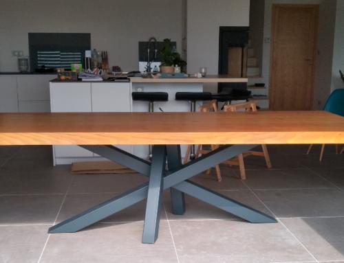 Mobiliers-table bois acier