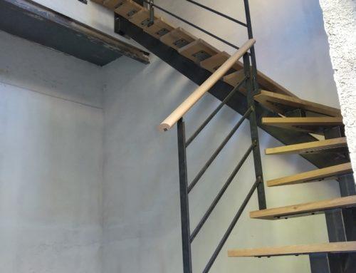 Escalier Acier / bois
